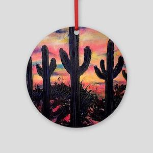 Desert, southwest art! Saguaro cactus! Ornament (R