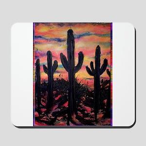 Desert, southwest art! Saguaro cactus! Mousepad