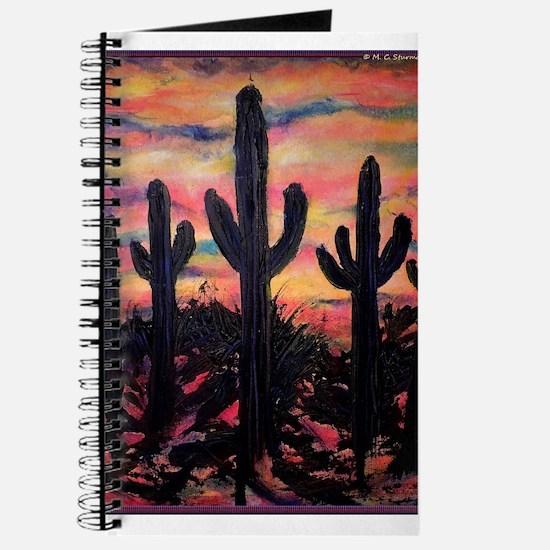 Desert, southwest art! Saguaro cactus! Journal