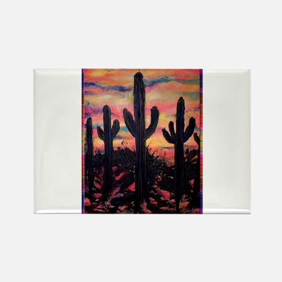 Desert, southwest art! Saguaro cactus! Rectangle M