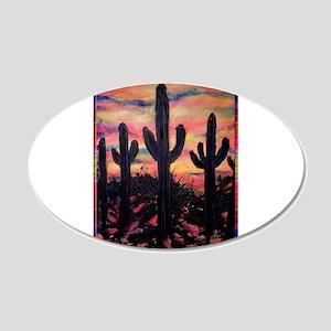 Desert, southwest art! Saguaro cactus! 20x12 Oval