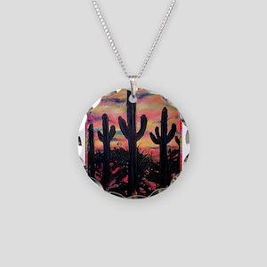 Desert, southwest art! Saguaro cactus! Necklace Ci