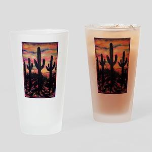 Desert, southwest art! Saguaro cactus! Drinking Gl