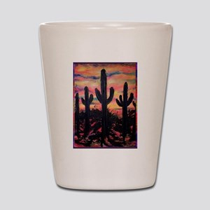 Desert, southwest art! Saguaro cactus! Shot Glass