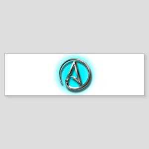 Atheist Logo (Aqua) Sticker (Bumper)