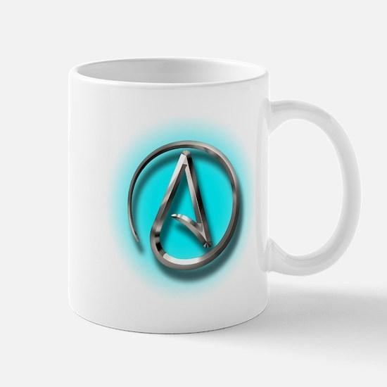 Atheist Logo (Aqua) Mug