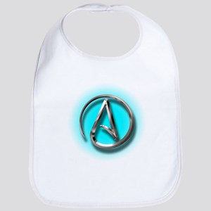 Atheist Logo (Aqua) Bib