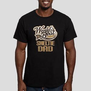 Sheltie Dad Gift Men's Fitted T-Shirt (dark)