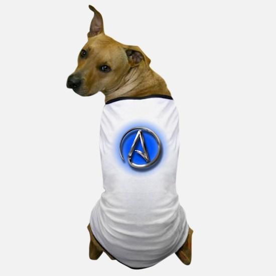 Atheist Logo (blue) Dog T-Shirt