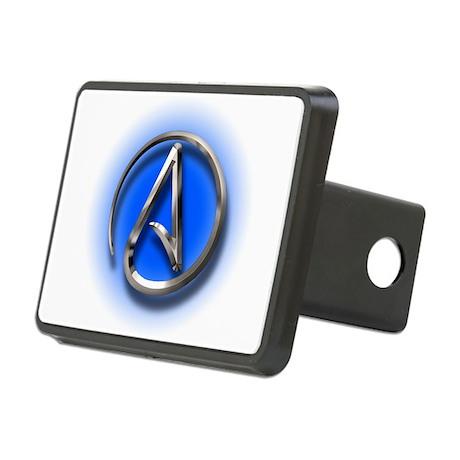 Atheist Logo (blue) Rectangular Hitch Cover