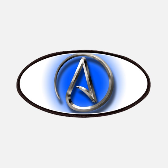 Atheist Logo (blue) Patches