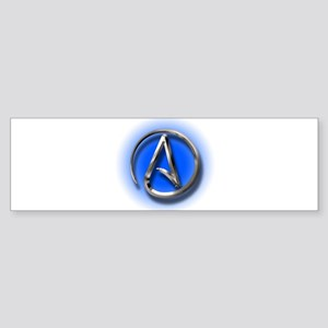 Atheist Logo (blue) Sticker (Bumper)
