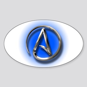 Atheist Logo (blue) Sticker (Oval)