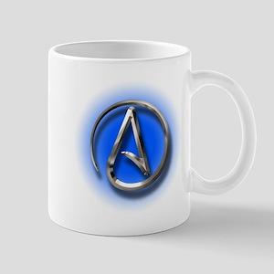 Atheist Logo (blue) Mug