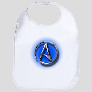 Atheist Logo (blue) Bib