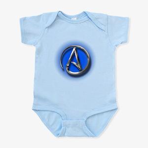Atheist Logo (blue) Infant Bodysuit