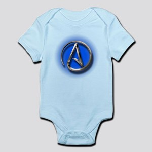 Atheist Logo (blue) Infant Bodysuit