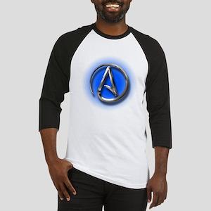 Atheist Logo (blue) Baseball Jersey