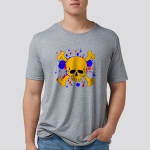 paintsplashskull Mens Tri-blend T-Shirt