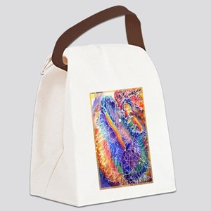 Show girl! Colorful art! Canvas Lunch Bag