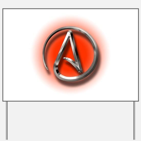 Atheist Logo (red) Yard Sign