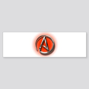 Atheist Logo (red) Sticker (Bumper)