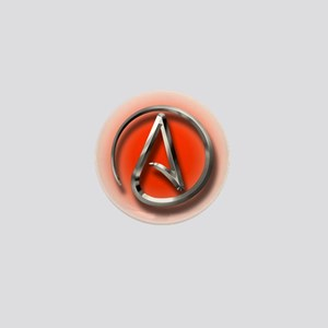 Atheist Logo (red) Mini Button