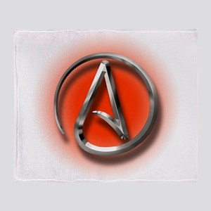Atheist Logo (red) Throw Blanket