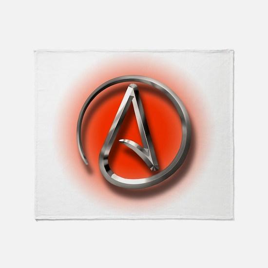 Atheist Logo (red) Throw Blanket