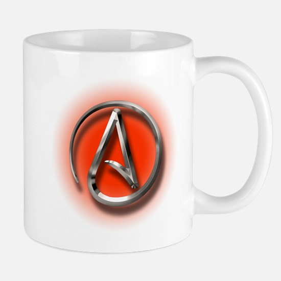 Atheist Logo (red) Mug
