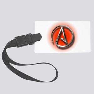 Atheist Logo (red) Large Luggage Tag
