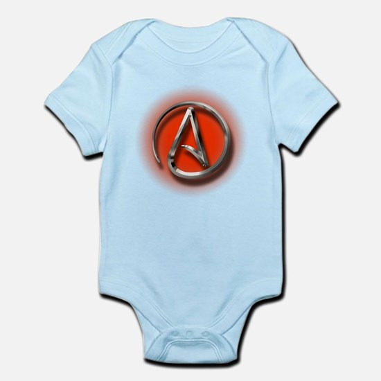 Atheist Logo (red) Infant Bodysuit