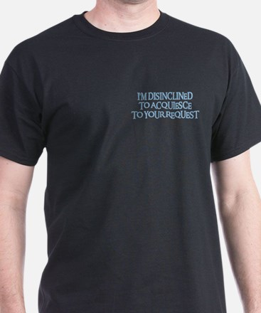 DISINCLINED Black T-Shirt