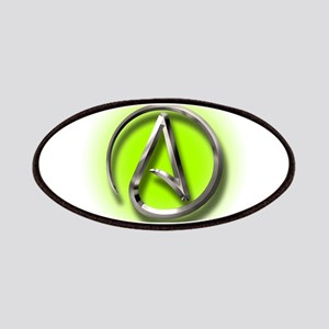 Atheist Logo (green) Patches