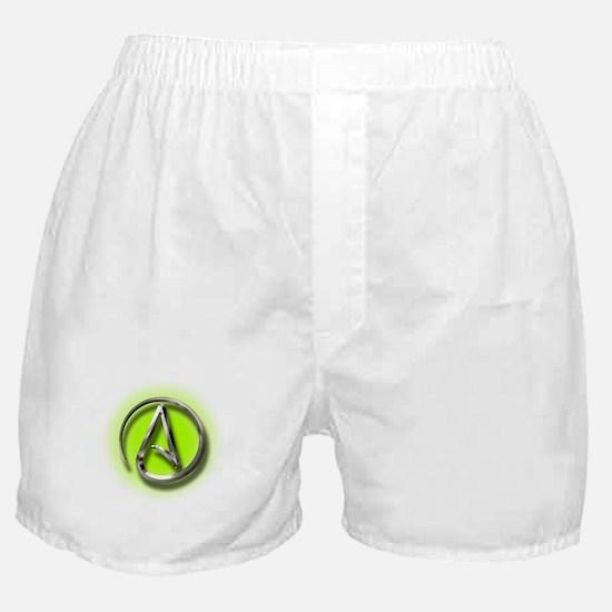 Atheist Logo (green) Boxer Shorts