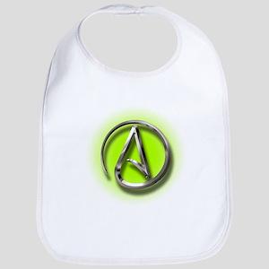 Atheist Logo (green) Bib
