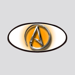 Atheist Logo (orange) Patches