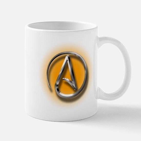 Atheist Logo (orange) Mug