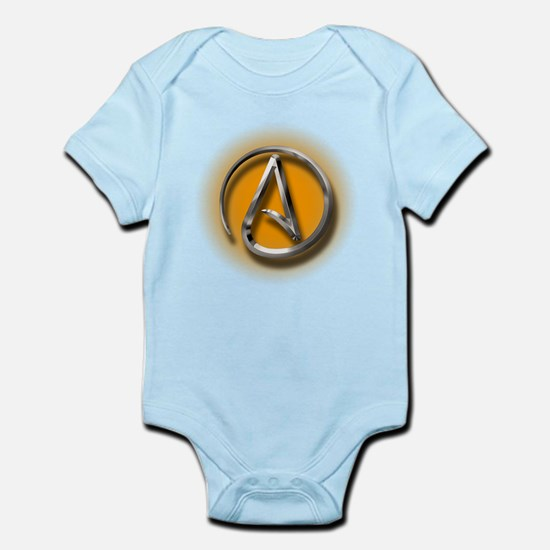 Atheist Logo (orange) Infant Bodysuit