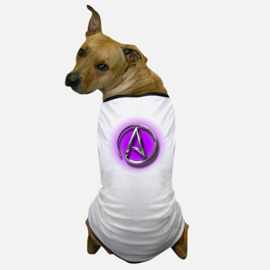 Atheist Logo (purple) Dog T-Shirt