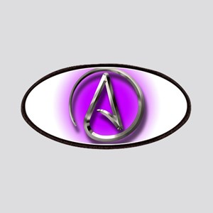 Atheist Logo (purple) Patches