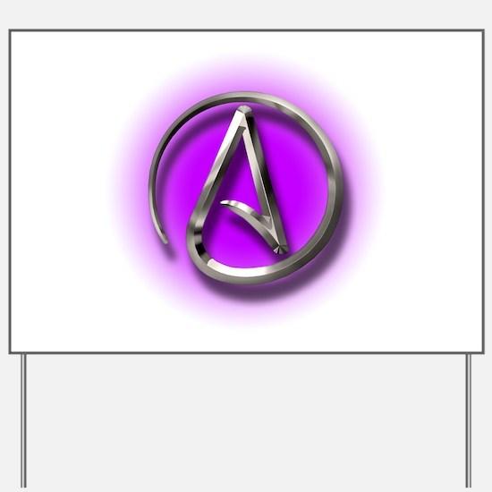 Atheist Logo (purple) Yard Sign