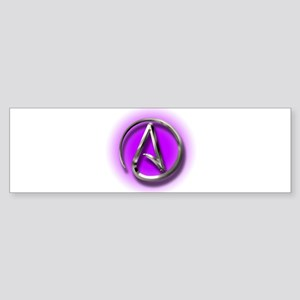 Atheist Logo (purple) Sticker (Bumper)