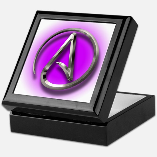 Atheist Logo (purple) Keepsake Box