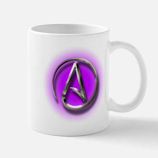 Atheist Logo (purple) Mug