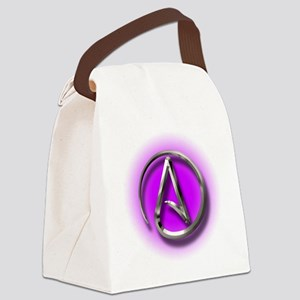 Atheist Logo (purple) Canvas Lunch Bag