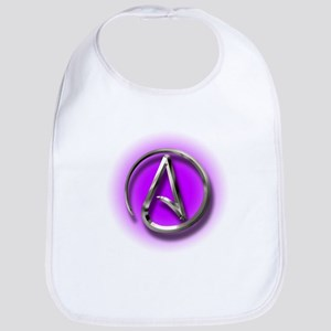 Atheist Logo (purple) Bib