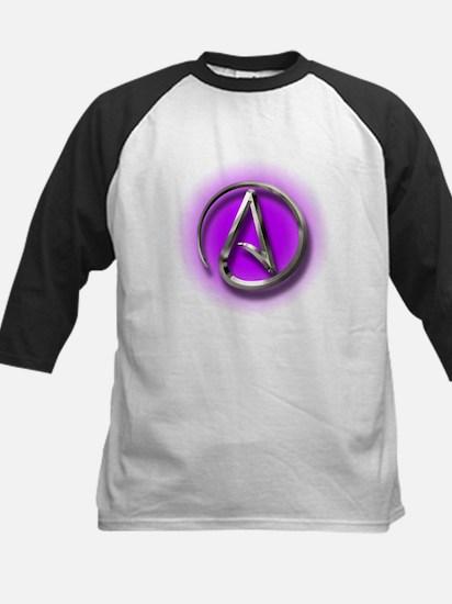 Atheist Logo (purple) Kids Baseball Jersey