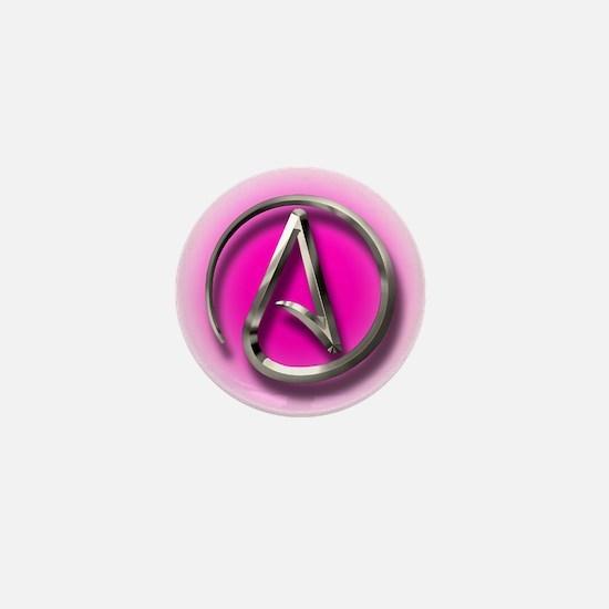 Atheist Logo (pink) Mini Button