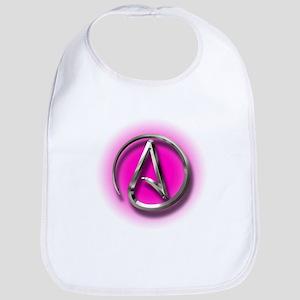 Atheist Logo (pink) Bib